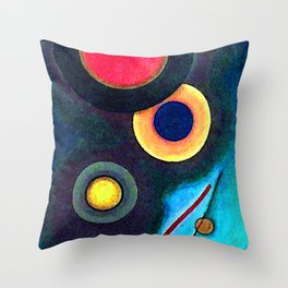 Wassily Kandinsky Composition with Circles and Lines Throw Pillow