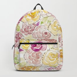 Faded Roses - Watercolor Backpack