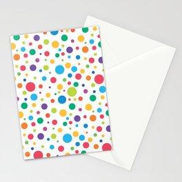 Rainbow Polka Dots Stationery Cards