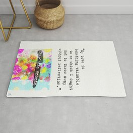 Charlotte Bronte Quotes Rug