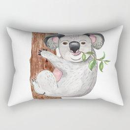 Cute koala bear Art Print Watercolor Painting Illustration Australia Wild Animal Tropical Rectangular Pillow