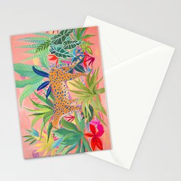 Leopard in Succulent Garden Stationery Cards