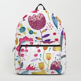 Autumn Hedgerow Flowers Backpack