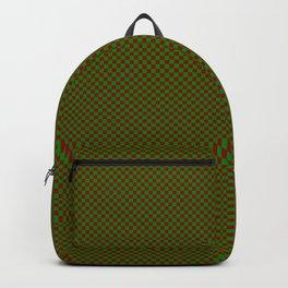 Burgundy and dark green squares Backpack