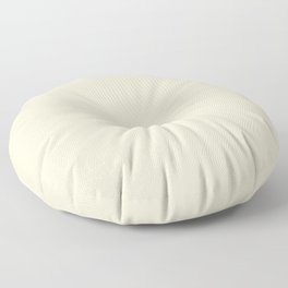 Pastel Lemon Yellow Pale Soft Meringue Yellow Floor Pillow