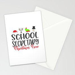 School secretary christmas, office Stationery Cards