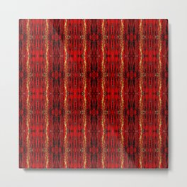 Red Gold, Old Oriental Pattern Metal Print
