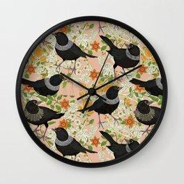 Ruth Bader GinsBIRD pink Wall Clock