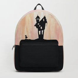 Little Red Riding Hood Enchanted House Fairy Tale Storybook Haunted house Spooky illustration Backpack