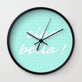 Ciao Bella! - seafoam Wall Clock