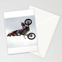 Motocross Front Flip Stunt Jump Stationery Cards