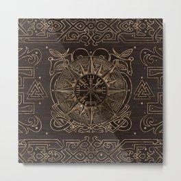 Vegvisir - Viking Compass Ornament Metal Print