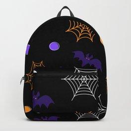 Halloween Webs and Bats Backpack
