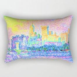Paul Signac - The Papal Palace, Avignon - Digital Remastered Edition Rectangular Pillow
