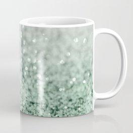 Silver Pastel Mint Green Ocean Glitter Glam #1 (Faux Glitter) #shiny #decor #art #society6 Coffee Mug