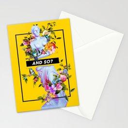 Vaporwave Venus with Flowers Stationery Cards