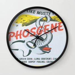 Vintage poster - Phosgene Wall Clock
