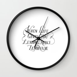 Lemons quote Wall Clock