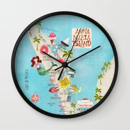 Anna Maria Island Map Wall Clock