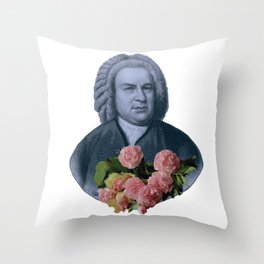 Bach Flowers Throw Pillow
