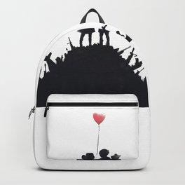 Banksy Two Children With Love Balloon At War Destruction Garbage, Streetart Street Art, Grafitti, Ar Backpack