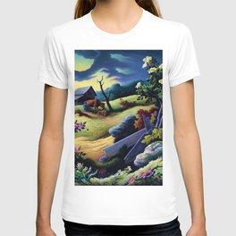 Classical Masterpiece 'June Morning, 1945' by Thomas Hart Benton T-shirt