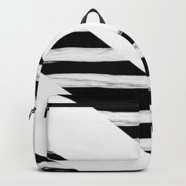 Cross Black and White Gross Stripes Backpack