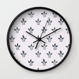Indienne Block Print Wall Clock