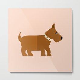 Fox terrier on pink Metal Print