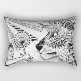 Lion and Dandelion Rectangular Pillow