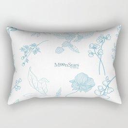 Flores minimalistas blanco Rectangular Pillow