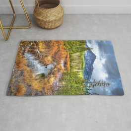 Oregon, Bend, Mountains, High Desert, River, Vertical Rug