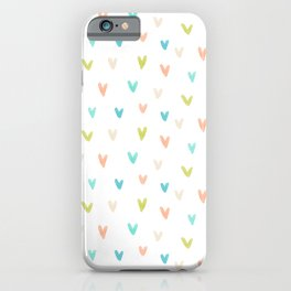 Watercolor Marks Pattern | Blue and Orange iPhone Case