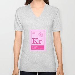Periodic Elements - 36 Krypton (Kr) Unisex V-Neck