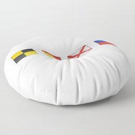 L  O  V  E - Navy Alphabet - Leather Floor Pillow