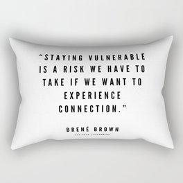 3    | Brené  Brown Quotes | 190524 | White Design Rectangular Pillow
