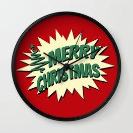Comic style Christmas design Wall Clock