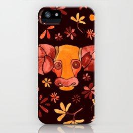 Bold Aries flower pattern iPhone Case