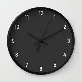 Numbers Clock - Charcoal Wall Clock