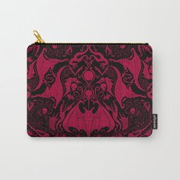 Bats and Beasts - Blood Red Carry-All Pouch