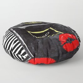 Black perfume, watercolor paintin Floor Pillow