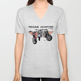 Colombian Bikers Texas Chapter Unisex V-Neck
