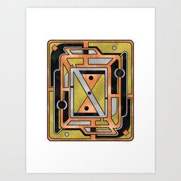 Star Chart - Metallic Coloring Art Print
