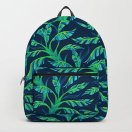 Paradise Leaves - Green Backpack