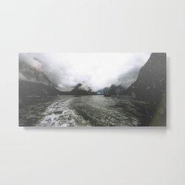 Boat in the Fog Metal Print