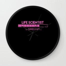Life Scientist Loading Wall Clock