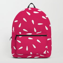 White Raindrops on Pink Fuchsia Background Backpack