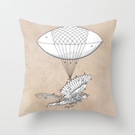 patent art Spalding Flying Machine 1889 Throw Pillow