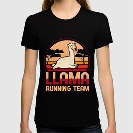 Llama running team - Llama, alpaca T-shirt