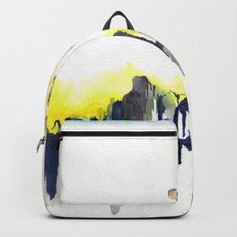 Watercolor Goat Skull  Backpack